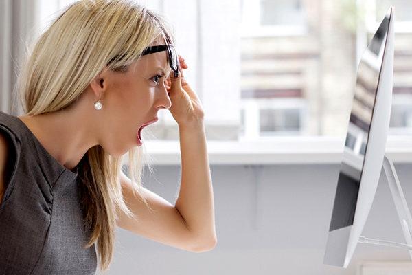 Girl looking at iMac